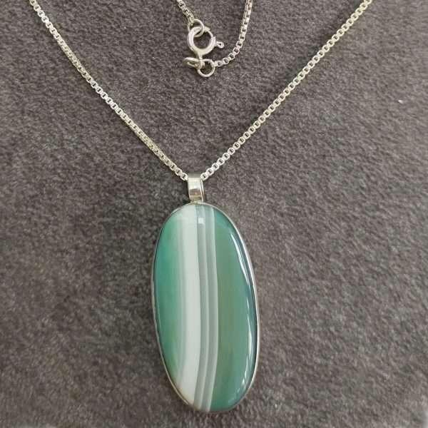 Silver & Agate Pendant